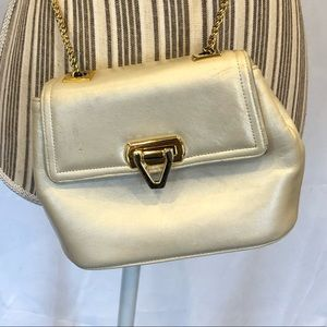 Frenchy of California crossbody gold chain bag